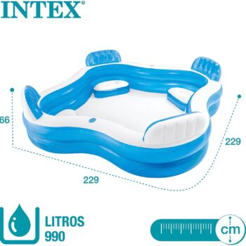 intex family lounge pool 4 seats review